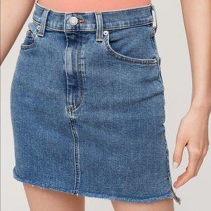 Wilfred Free Cut Off Denim Skirt
